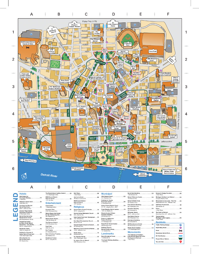 Detroit People Mover Map