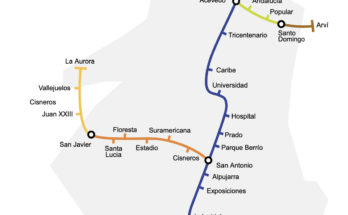 Medellin metro map