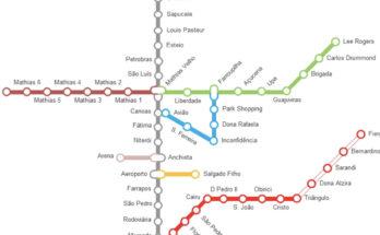 Mapa del metro de Porto Alegre