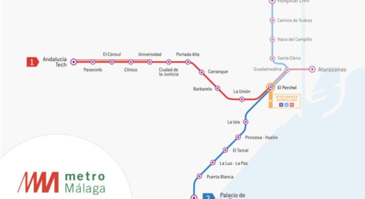 Mapa del metro de Malaga