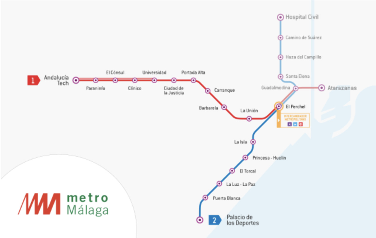 Malaga Metro - Transport Wiki on map of andalucia, map of puerto rico gran canaria, map of iruna, map of mutare, map of sagunto, map of cudillero, map of bizkaia, map of getxo, map of tampere, map of macapa, map of marsala, map of mount ephraim, map of costa de la luz, map of italica, map of soria, map of isla margarita, map of monchengladbach, map of venice marco polo, map of penedes, map of graysville,
