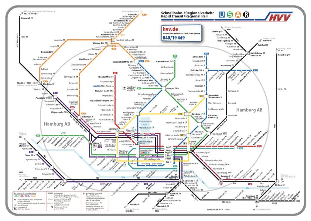 Hamburg U-Bahn karte