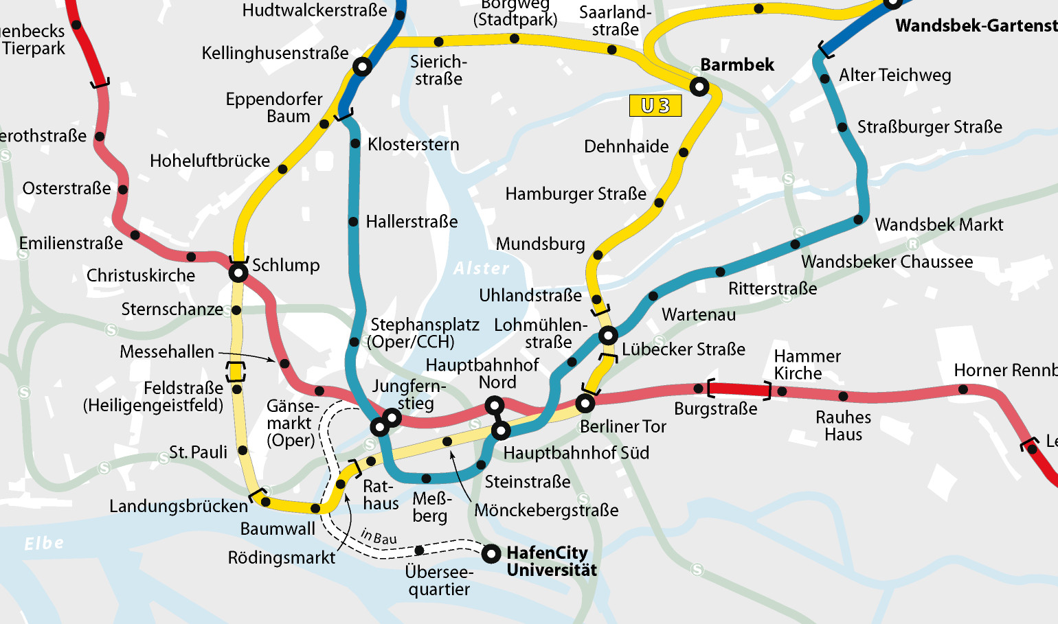 Hamburg Subway Map.Hamburg Metro Transport Wiki