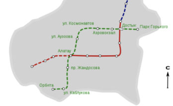 Almaty Metro Map