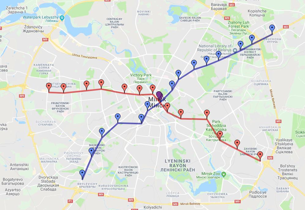 Minsk Metro Map