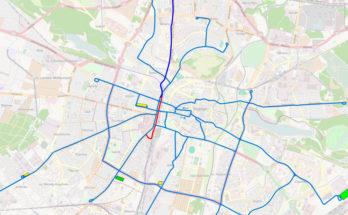 Poznan Fast Tram map
