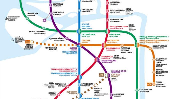 saint petersburg metro map