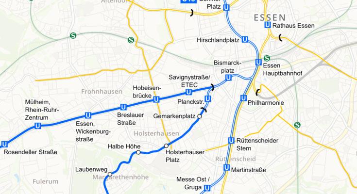 Essen stadtbahn map
