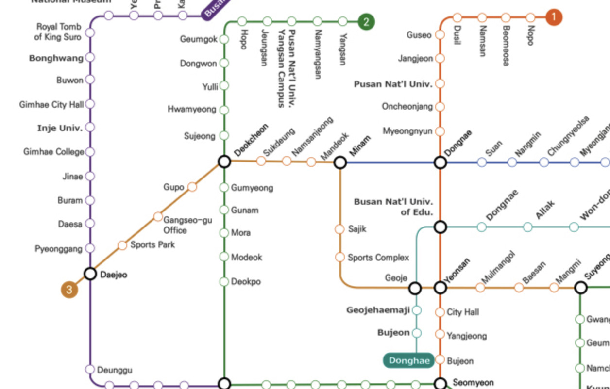 Subway Map Of Busan.Busan Metro Transport Wiki