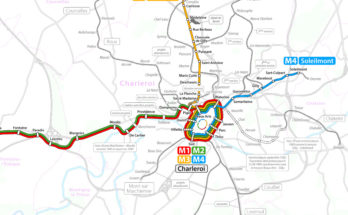 Charleroi light metro map