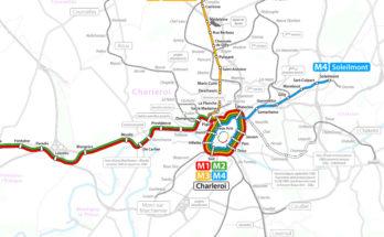 Charleroi light metro map