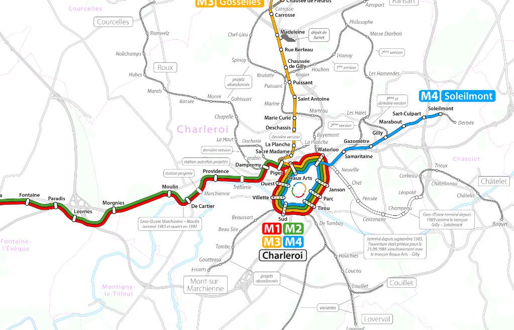 Current La Subway Map.Charleroi Metro Transport Wiki