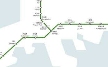 mapa del metro de dalian
