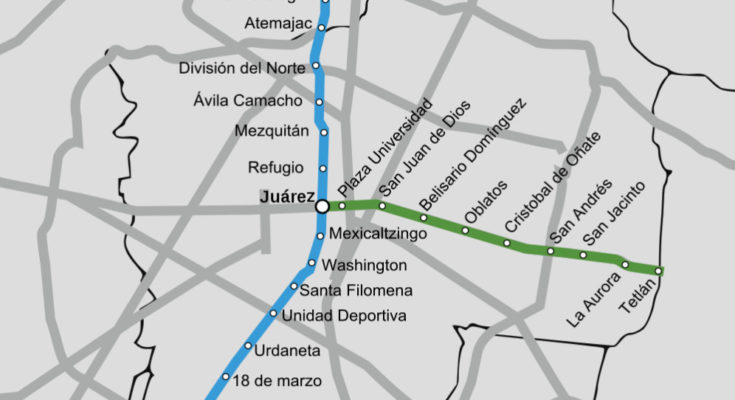 Guadalajara Mexico Metro Map