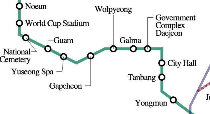 Daejeon Metro Map
