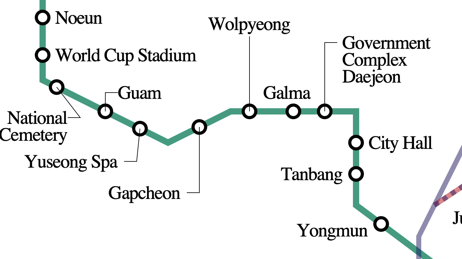 North Korean Subway Map.Daejeon Metro Transport Wiki