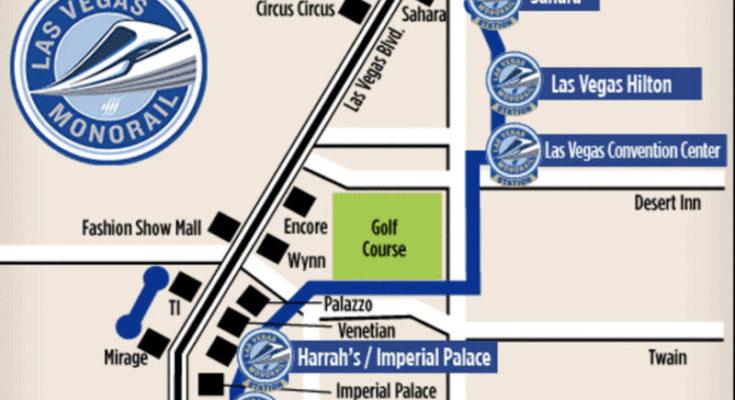 mapa monorail las vegas