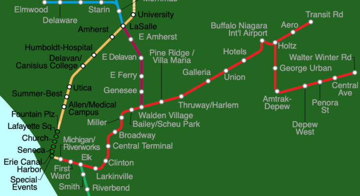 buffalo metro rail map