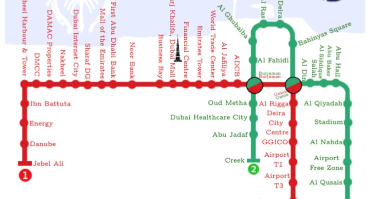 dubai metro map featured
